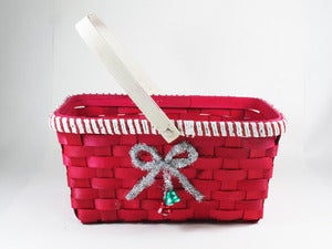 Image of Red Christmas Nesting Basket Set