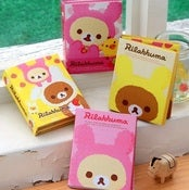 Image of Set de 6 blocs-notes Rilakkuma pliable