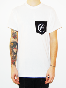 "Image of CREATIVE ADULT ""Logo"" pocket t shirt"