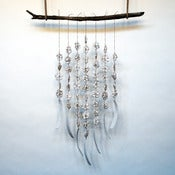 Image of 7 Strand Flower & Bone Driftwood Hanging