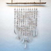 Image of 11 Strand Flower & Feather/Bone Hanging