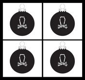 Image of The Defiled Black Xmas Bauble - Set of 4