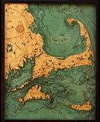 Image of Cape Cod, MA Wood Map
