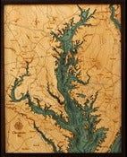 Image of Chesapeake Bay, MD/VA/DC Wood Map