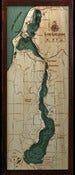 Image of Lake Leelanau, MI Wood Map