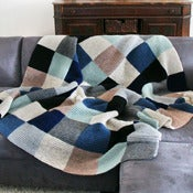 Image of Color Block Blanket in Stormy Weather