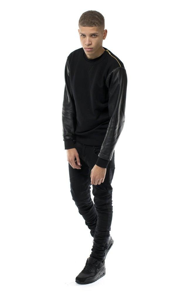 Leather Sleeve Sweatshirt Kanye West Forum
