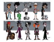 Image of The Evolution of Johnny Depp Print