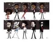 Image of The Evolution of Michael Jackson Print