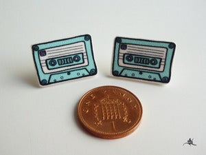 Image of Cassette Tape Earrings