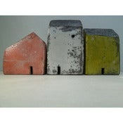 Image of Rowena Brown:  raku fired clay houses 4