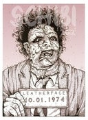 Image of 'Leatherface' Monster MugShot print