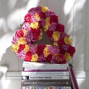 Image of Grand Entrance floral heart wreath