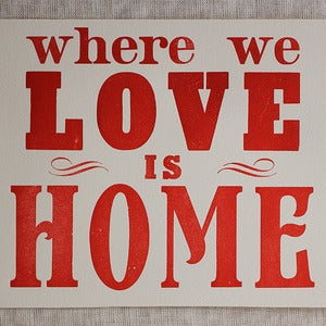 Image of Love Is Home (unframed print)