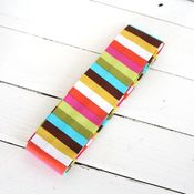 Image of messenger bag sash - rainbow stripes