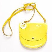 Image of Patent Yellow Largeish Leather Locket