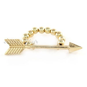 Image of Arrow Stretch Ring, SW123 Gold or Silver