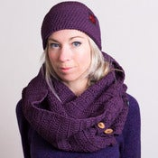 Image of Button Scarf -Organic Cotton