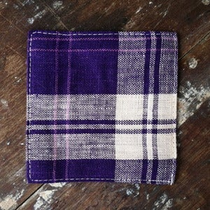 Image of Coasters: Purple Beige Check