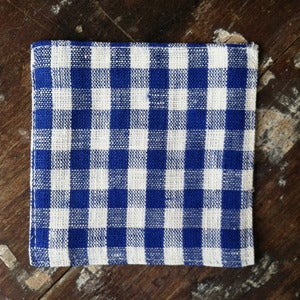 Image of Coasters: Blue White Check