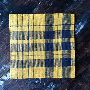 Image of Coasters: Yellow Plaid