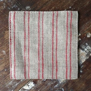Image of Coasters: Natural Red Stripe