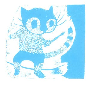 Image of Paint Your Own Tail - Limited Edition Lino Print Cat
