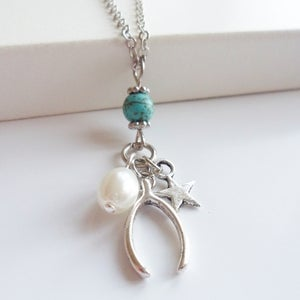 Image of Wishbone Charm Necklace
