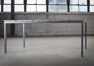 Image of Metal Base Dining Table