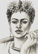 Image of Original Drawing Frida Kahlo 5x7