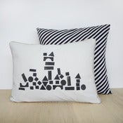 Image of block print pillow case