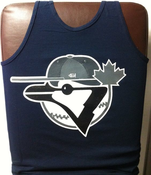 "Image of ""FITTED JAYS"" Tank top (GREYS)"