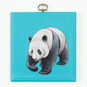 Image of PANDA PAINTING ON PANEL