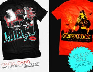 "Image of ""Favorite Girl"" & ""Revolution"" Official Shirts 