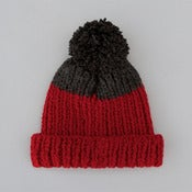 Image of Wooly Hat | Red & Dark Grey