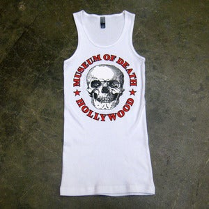 Image of Museum Of Death Hollywood Logo (White) - Beater