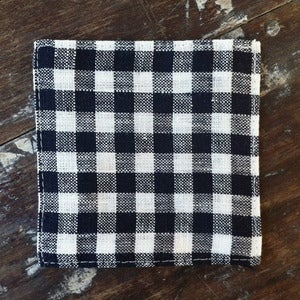 Image of Coasters: Navy White Check