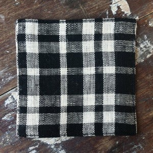 Image of Coasters: Black Beige Plaid