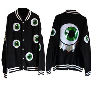 Image of Eyeballed Letterman Jacket.