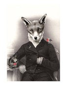 Image of Mr Christmas Fox 11 x 14 print