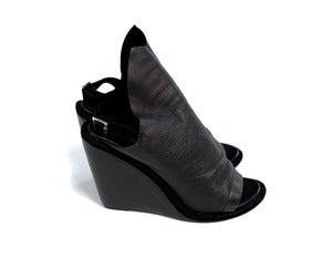 Image of BOULEVARD wedges (black leather)