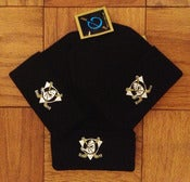 Image of Vintage Deadstock Anaheim Mighty Ducks Black Cuffed Beanie Knit Cap Toque