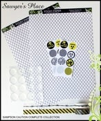 Image of Sampson Caution Collection - Sticky Paper, Washi Tape, Rourke's Rounds &amp; Epoxy Dots
