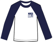 Image of NEW Muncie Girls long sleeve baseball tee