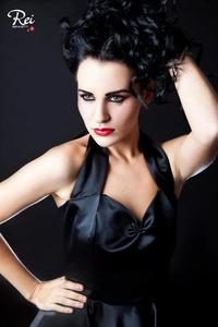 Image of *Black Duchesse Satin