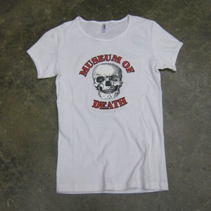 Image of Museum of Death Logo - Girly Tee (White)