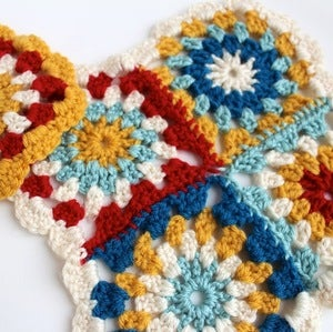 Image of Assemble Crafting Kit: Crocheted Granny Squares