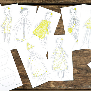 Image of Pocket paper dolls, Jess Brown