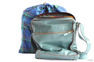 Image of Minku Messenger bag in teal