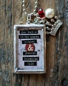 Image of Rubies & Pearls | Soldered Glass Pendant